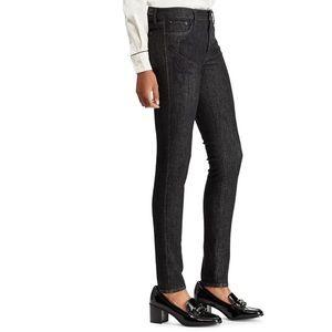 Ralph Lauren Black Floral Embroidered Jeans